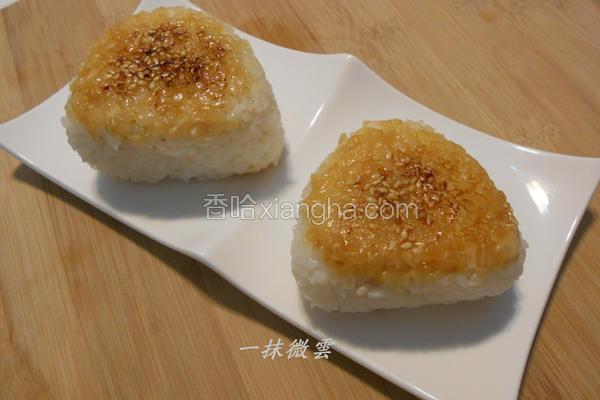 烤鲔鱼饭团