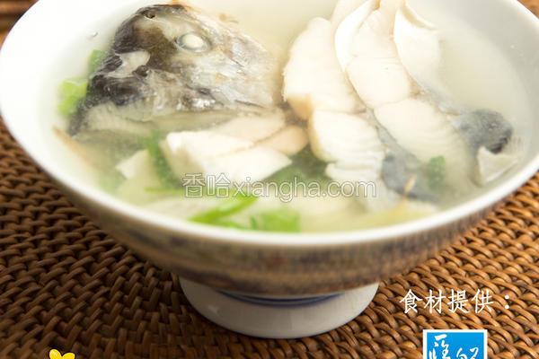 味噌花鲳鱼汤