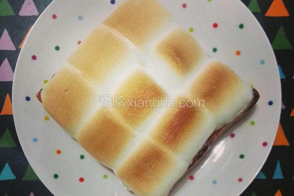 棉花糖烤厚片吐司
