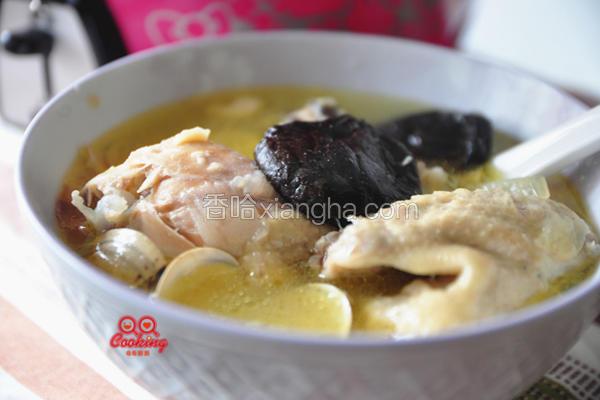 蒜头香菇鸡汤