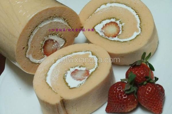 鲜奶油草莓瑞士卷