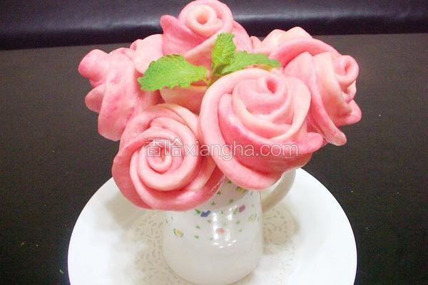玫瑰花造型馒头
