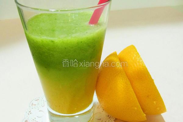 蜂蜜双色果菜汁