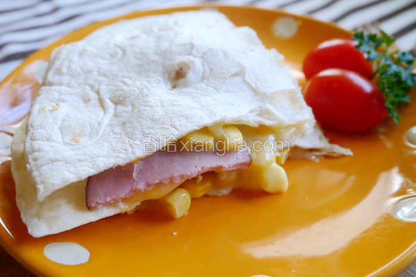 玉米火腿烤饼
