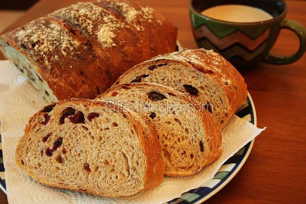 欧式葡萄全麦面包