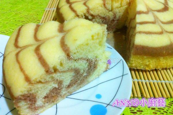 蒸斑马蛋糕