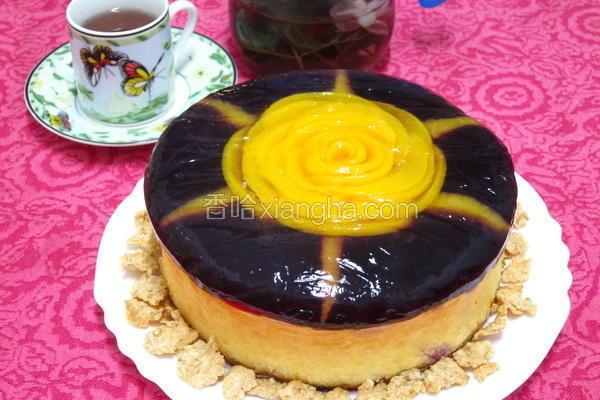 玫瑰花轻乳酪蛋糕