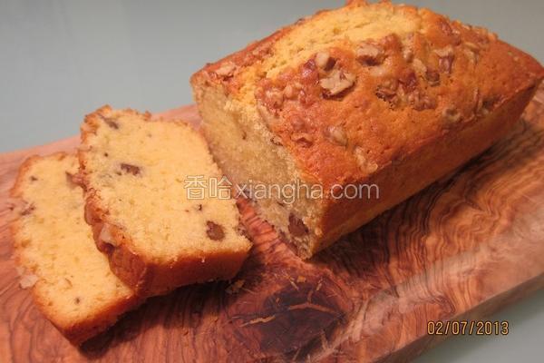 奶油核桃磅蛋糕