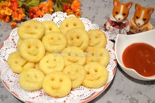 马铃薯笑脸饼