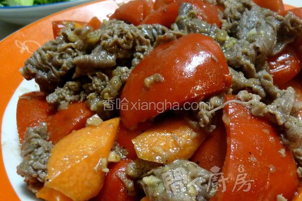 肥牛炒红椒