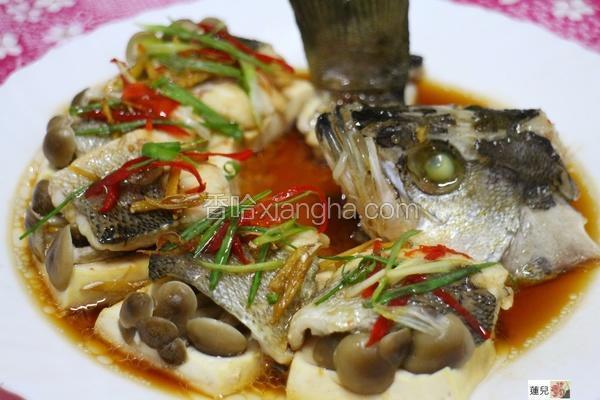 清蒸百菇鲈鱼
