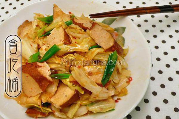 豆瓣香干炒白菜