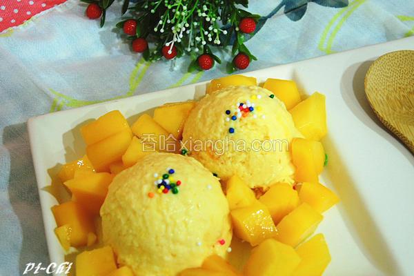 芒果炼奶冰淇淋
