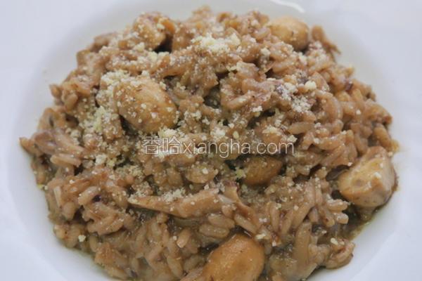 意式奶油蘑菇炖饭