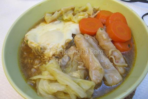 超营养虾饺泡面
