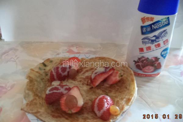 香葱草莓葱油饼