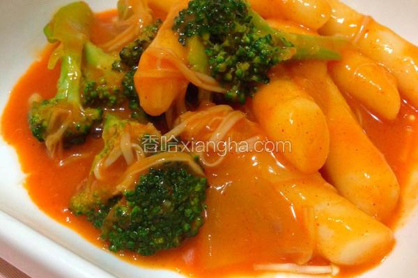 蔬菜辣炒年糕