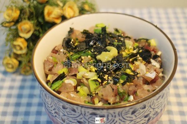 竹荚鱼丼饭