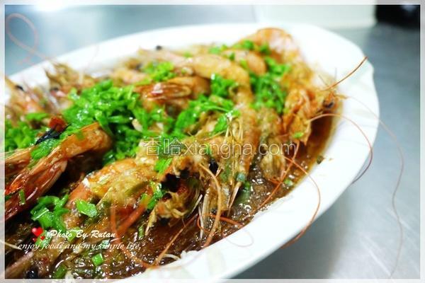 蒜泥水晶蒸虾