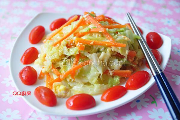 咸蛋炒高丽菜