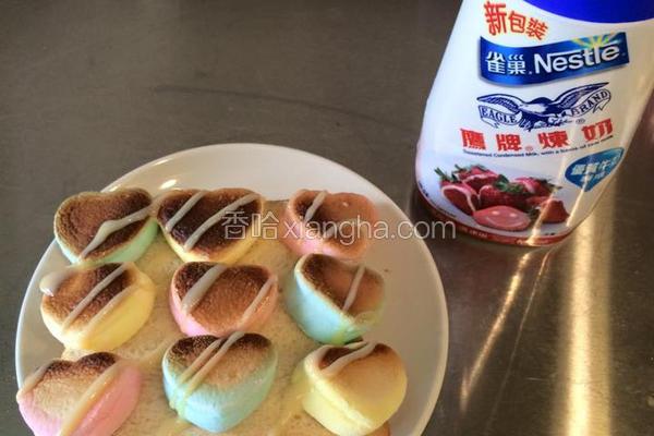 草莓棉花糖吐司