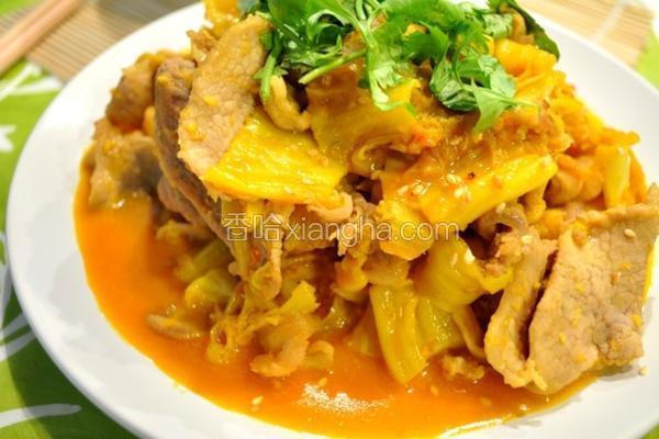 姜黄泡菜炒猪肉
