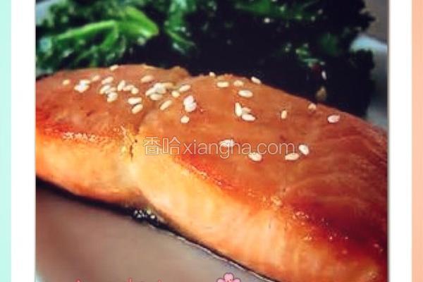 柚子蜜煎鲑鱼