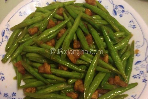 自制猪油炒四季豆