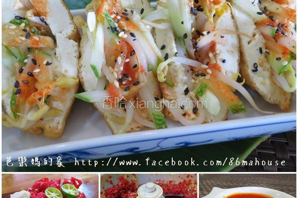 豆腐酿黄瓜豆芽