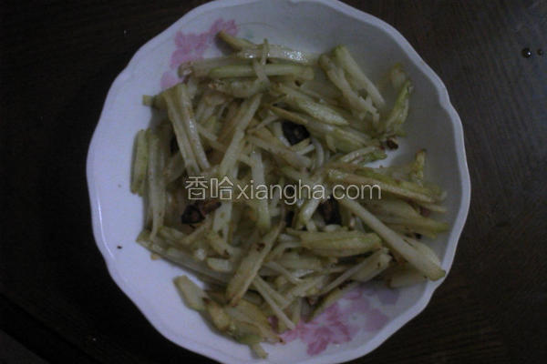 香蒜炒土豆丝