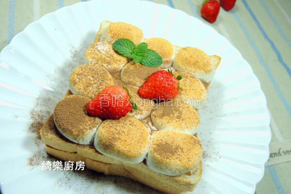 草莓棉花糖土司