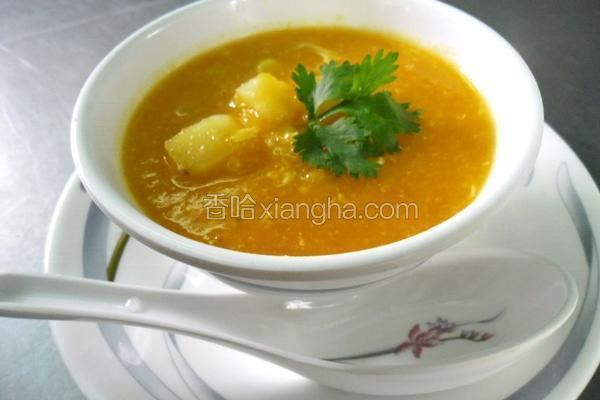 南瓜玉米浓汤