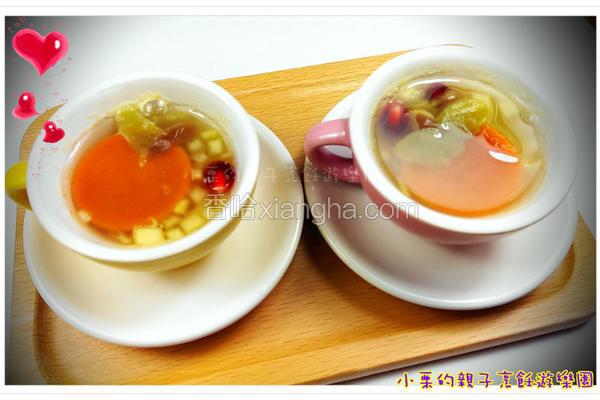 酒酿水果年糕汤