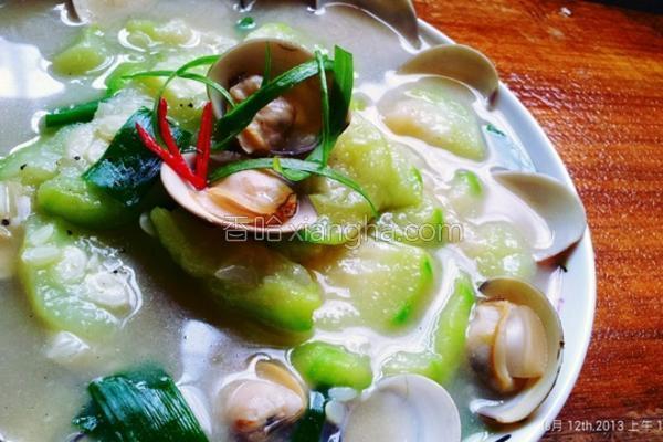 蛤蜊丝瓜的做法