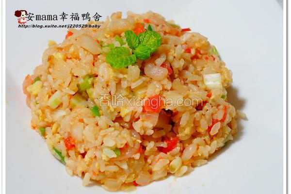 寿喜虾仁炒饭