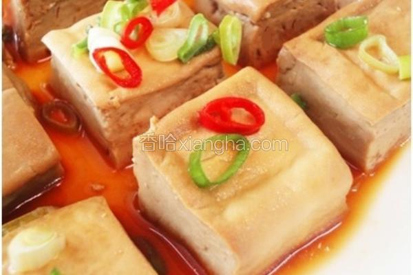 家常菜葱烧豆腐