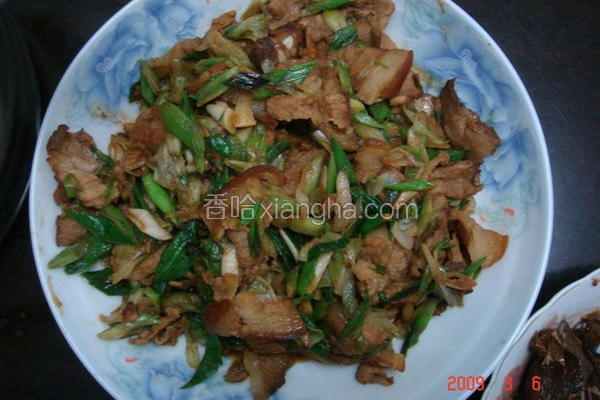 蒜炒咸猪肉