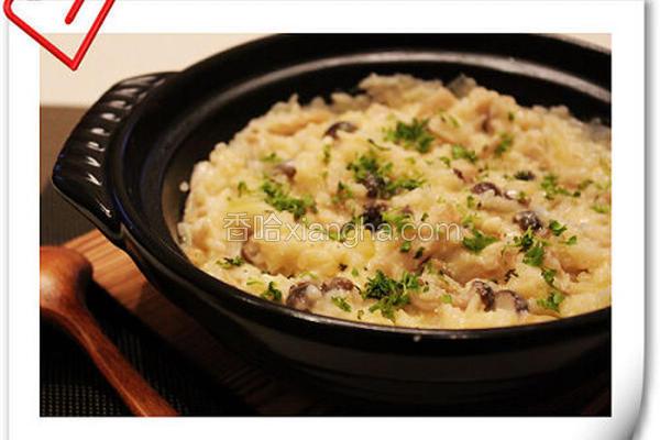 起司野菇炖饭