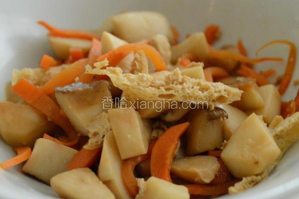 油豆腐炒杏鲍菇