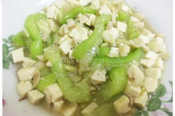 丝瓜滑菇菇豆腐