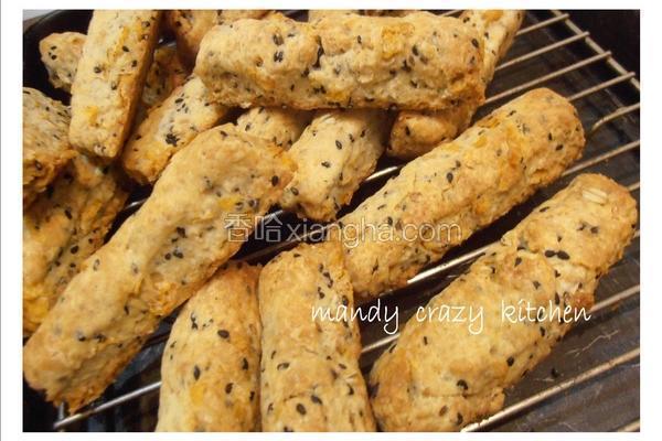 芝麻麦片硬饼干