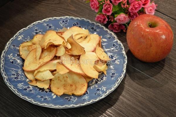 玉桂烤苹果片