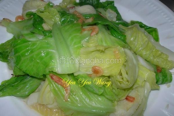 樱花虾炒高丽菜苗