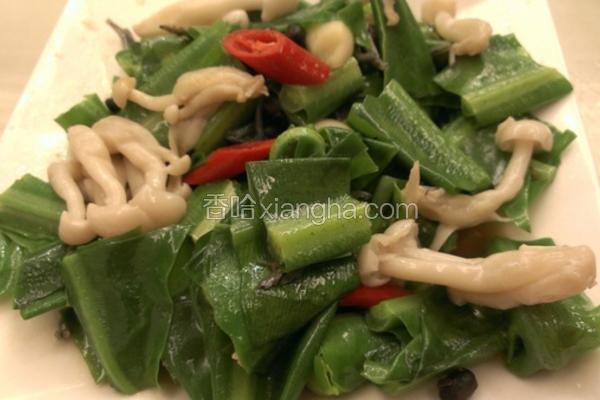 菇菇炒小鱼山苏