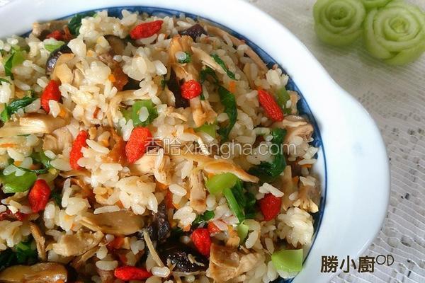 麻香鸡丝菜饭