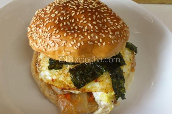 泡菜海苔蛋堡