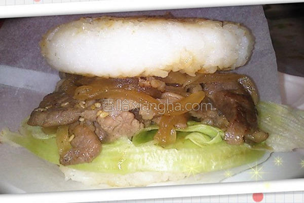 照烧肉米堡的做法