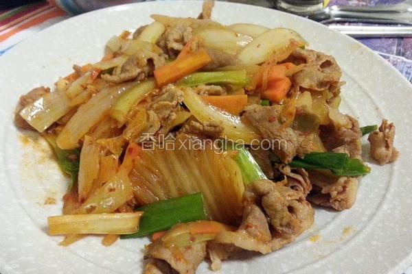 炒泡菜猪肉