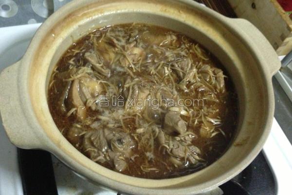 砂煲麻油姜丝鸡的做法