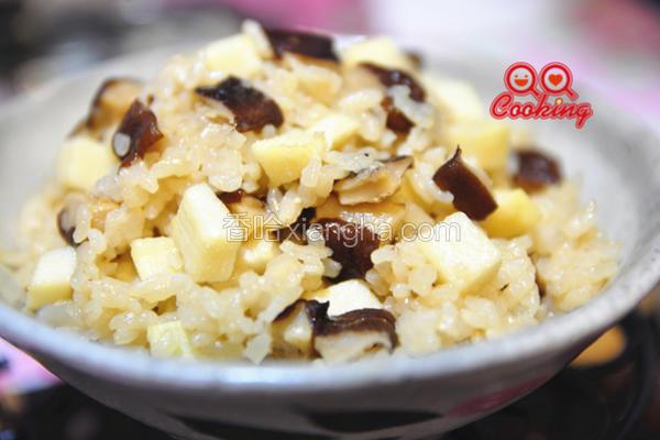 蚝油香菇笋丁炊饭